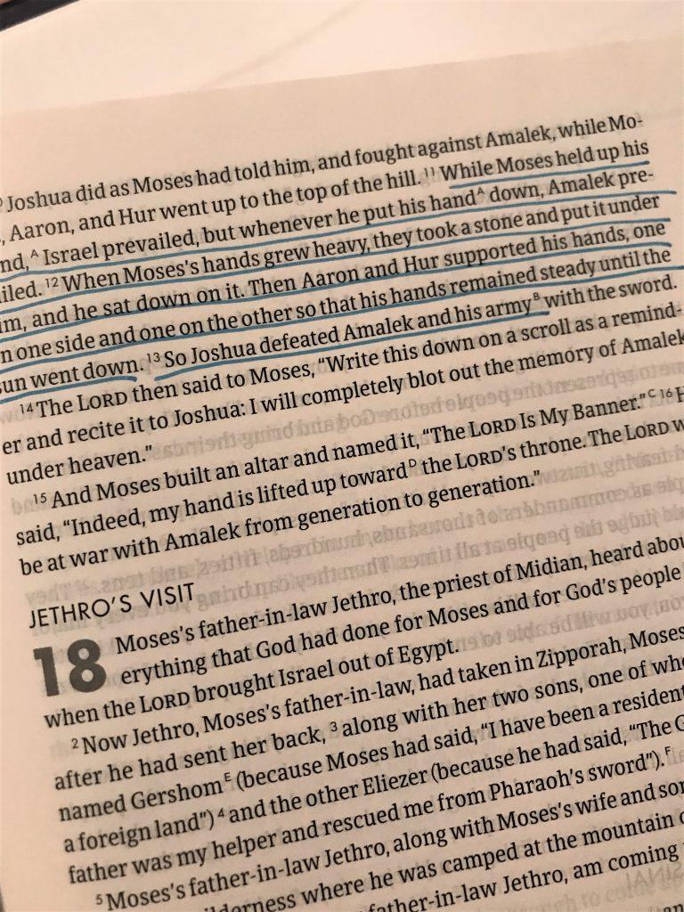 Exodus 17:11-13