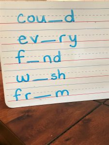 spelling practice leave a letter out photo