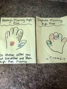 example of the morning high give chart to help you homeschool while holding on to our sanity